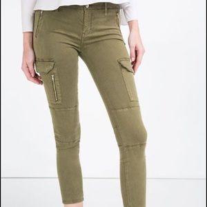 Zara Women Cargo Olive Pants